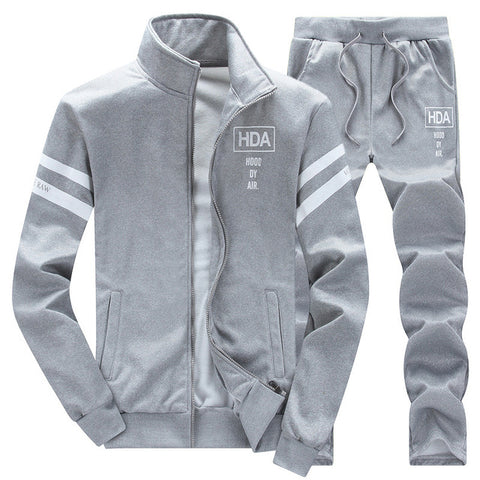 Full-zip Fleece Sweat Suit by Linder - Grey