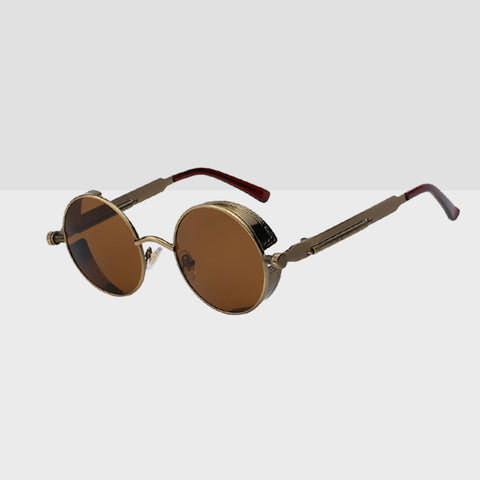 Round Hipster Sunglasses - Copper Brown