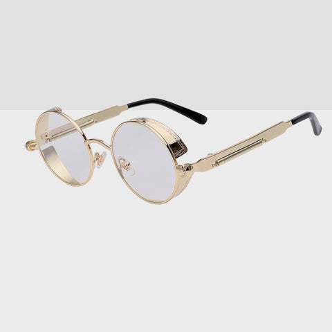 Round Hipster Sunglasses - Clear
