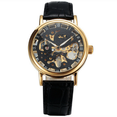 The Skeleton Watch - Black & Gold
