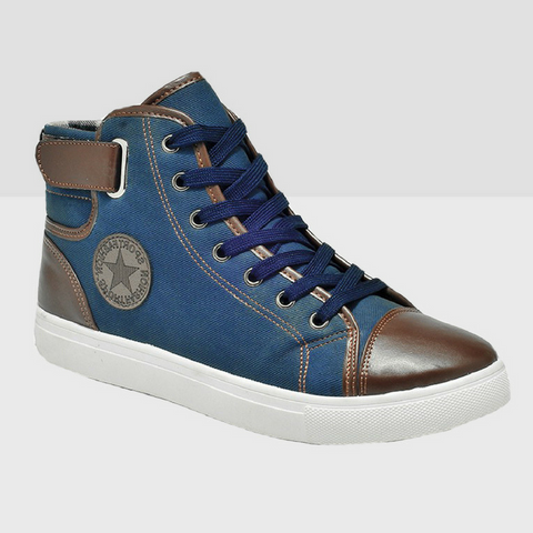 High Top Canvas Boots - Blue
