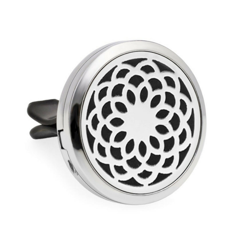 Aromatherapy Car Diffuser Locket - Black OM syllable