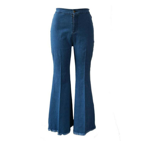 LINDER  Sexy Wide Leg Pants - Dark Blue
