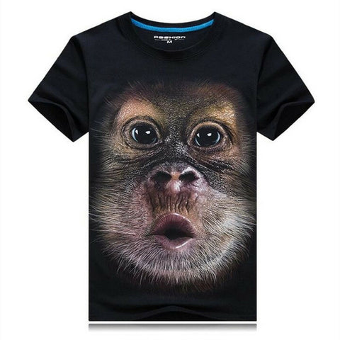 Funny Monkey T-Shirt - Black