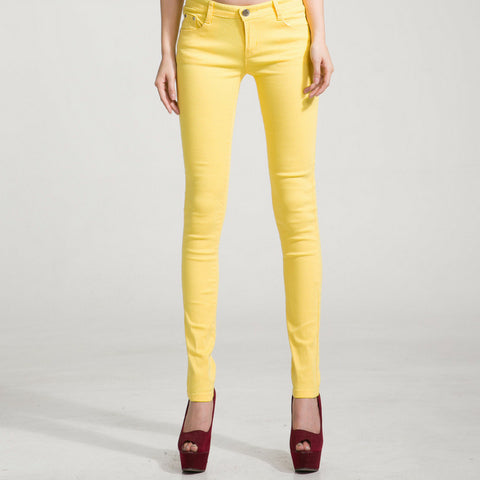 Candy Skinny Jeans in Yellow