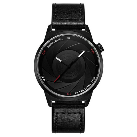 Photographer Series Watch - Black Leather Strap