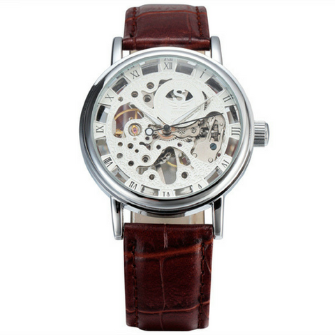 The Skeleton Watch - Brown & Silver
