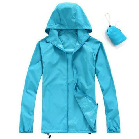 Quick Dry Waterproof Jacket in Blue