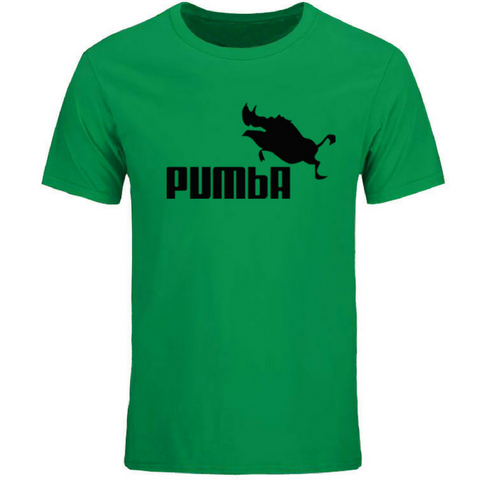 DESIGN Unisex Pumba T Shirt in Green