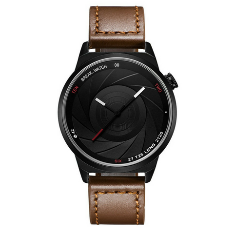 Photographer Series Watch - Brown Leather Strap