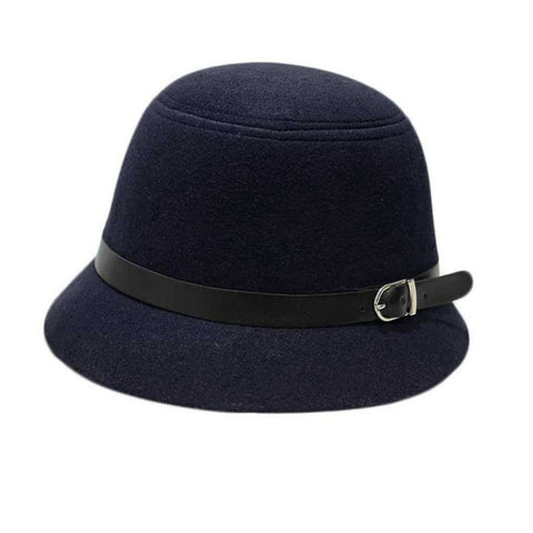 LINDER Cloche Hat - Navy