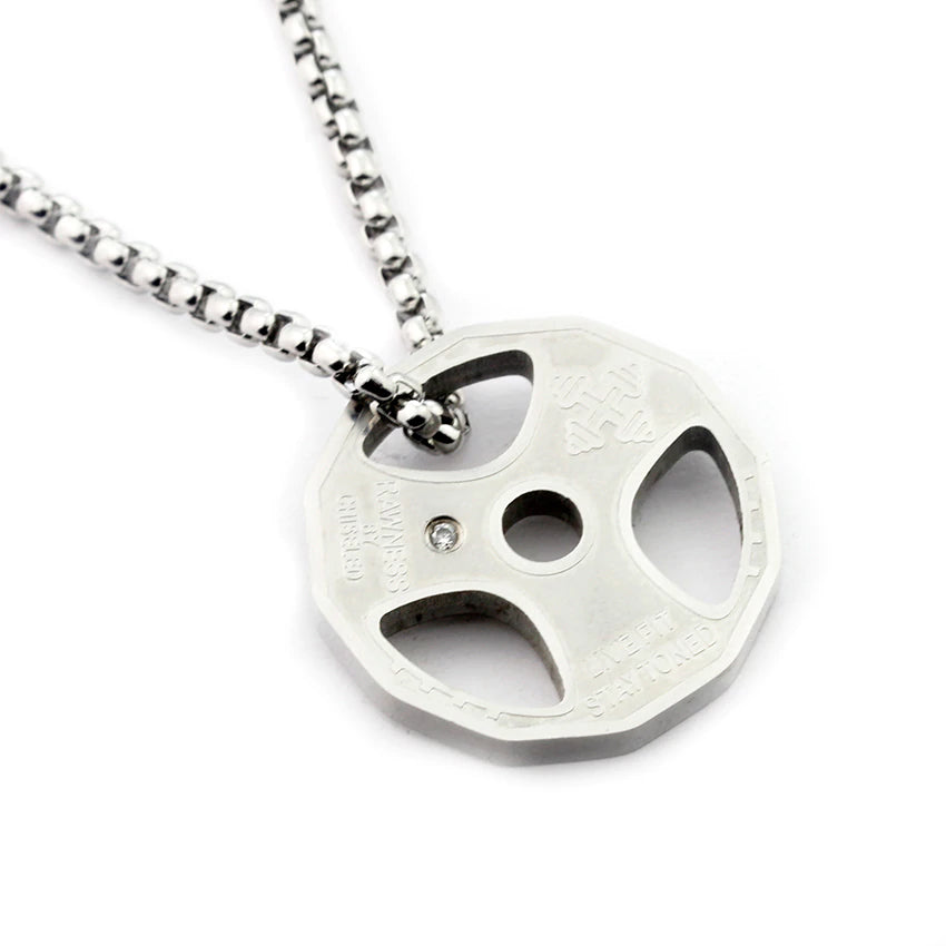 Weight Plate Necklace - Silver