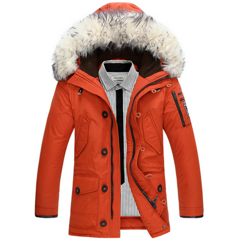 Thermal Parka Winter Jacket in Orange