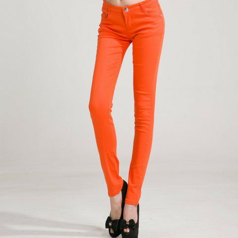 Candy Skinny Jeans in Orange