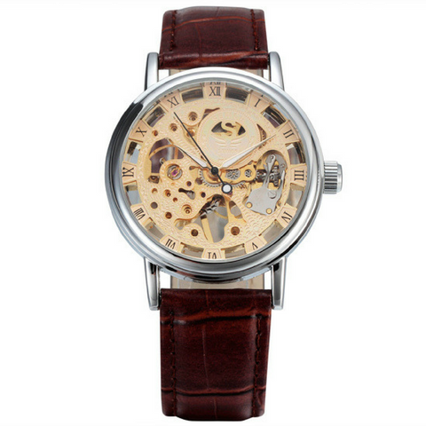 The Skeleton Watch - Silver & Gold Face
