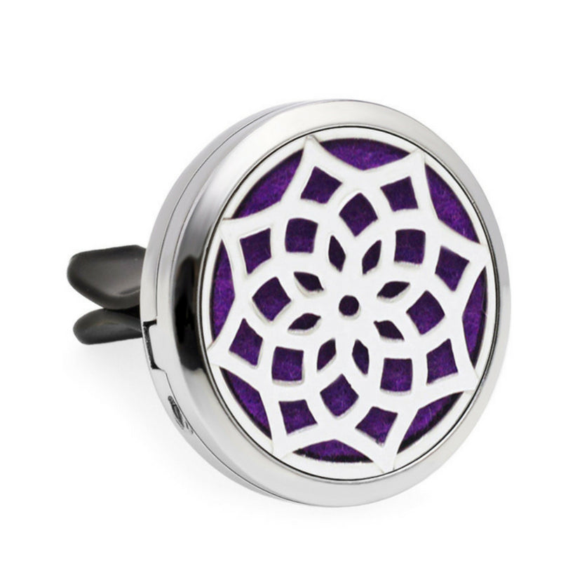 Aromatherapy Car Diffuser Locket - Pink Butterfly
