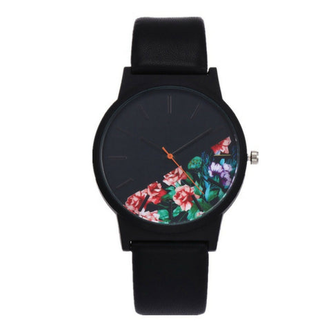 LINDER DESIGN Flower Watch - Pink Flower