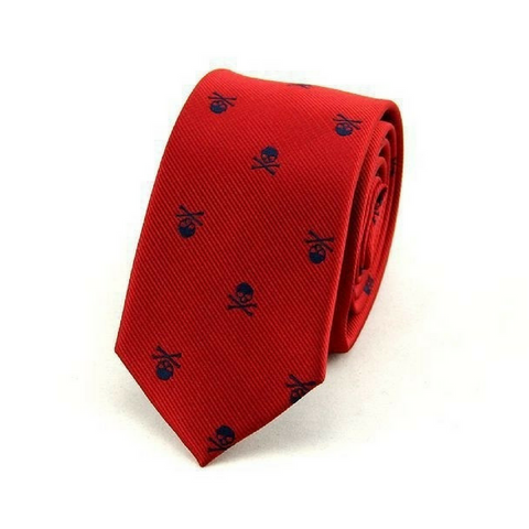 Skull Neck Tie - Red