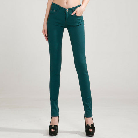 Candy Skinny Jeans in Dark Green