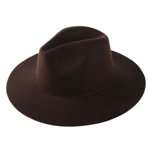 LINDER Felt Hat Fedora - Brown