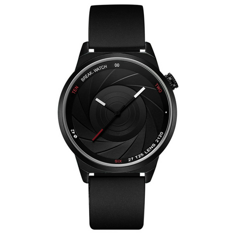 Photographer Series Watch - Black Rubber Strap