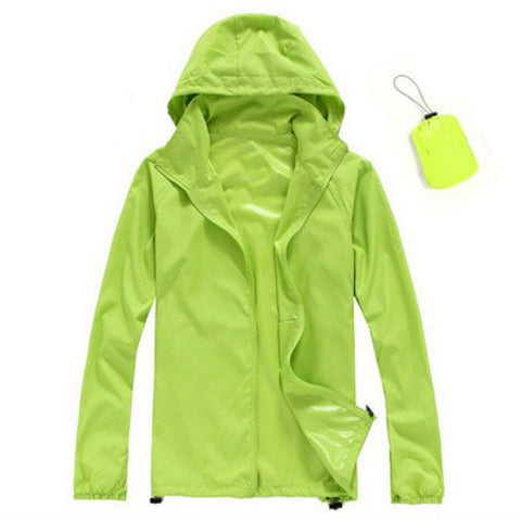 Quick Dry Waterproof Jacket in Green