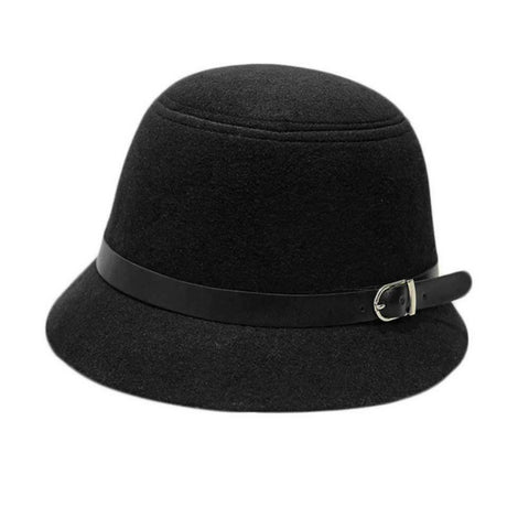 LINDER Cloche Hat - Black