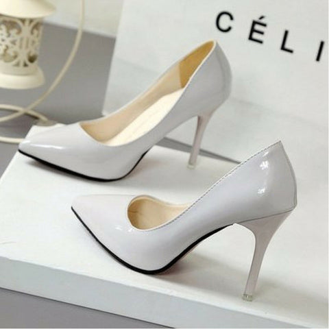 LINDER Pointed High Heels -  Grey