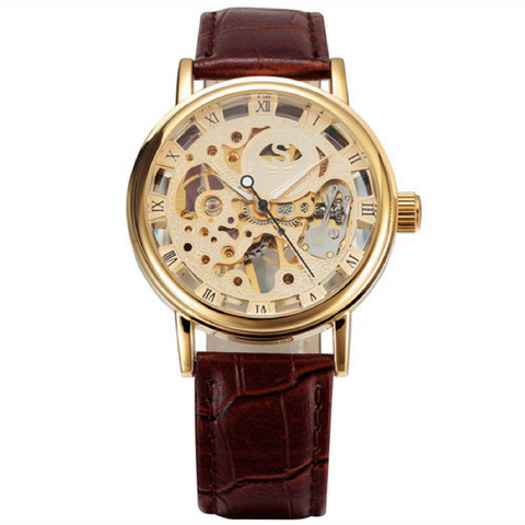 The Skeleton Watch - Brown & Gold