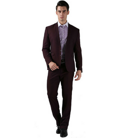 Bright Dark Brown Skinny Fit Suit