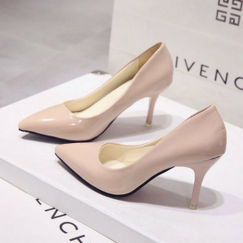 LINDER Pointed High Heels - Apricot