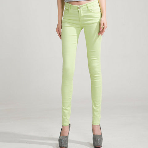 Candy Skinny Jeans in Light Green