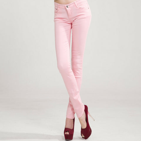 LINDER Candy Skinny Jeans in pink