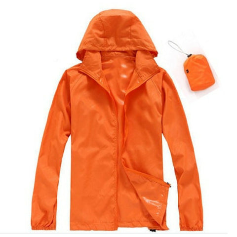 Quick Dry Waterproof Jacket in Orange
