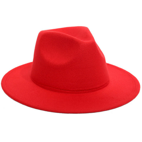 LINDER Felt Hat Fedora - Red