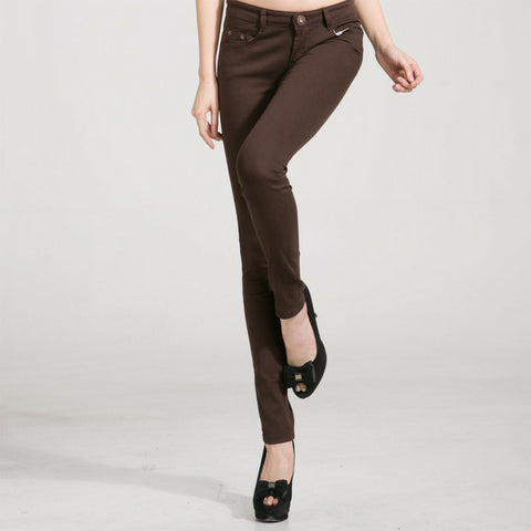 Candy Skinny Jeans in Brown