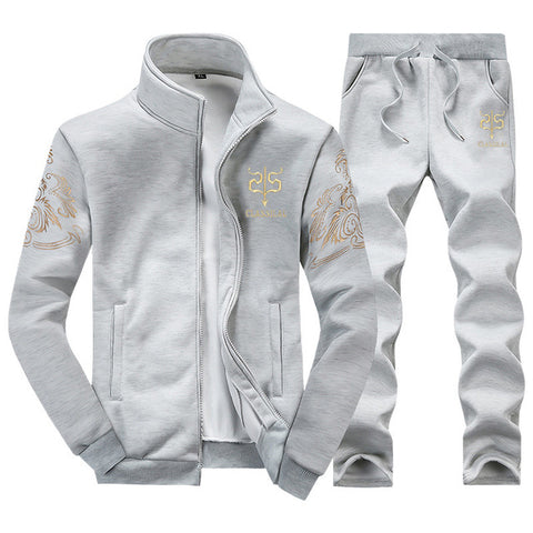 Zip Thru Tracksuit by Linder - Grey