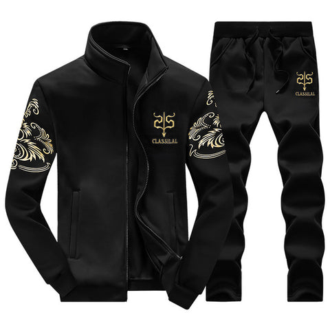 Zip Thru Tracksuit by Linder - Black