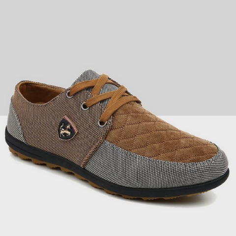 Brown Patchwork Mustang Shoes