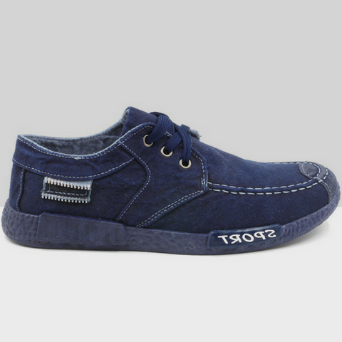 Canvas Denim Loafers Shoes