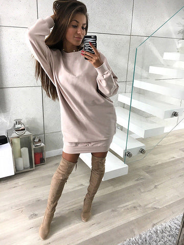 Oversized Lightweight Sweatshirt in Off-White