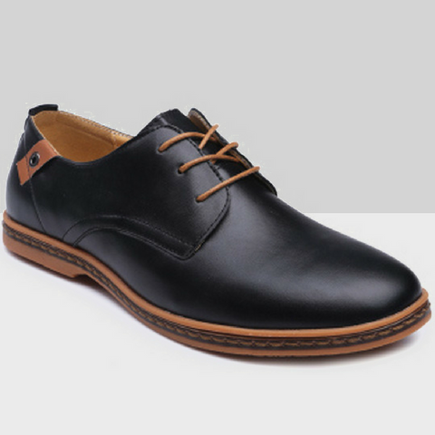 Casual Lace-Up Work Shoes