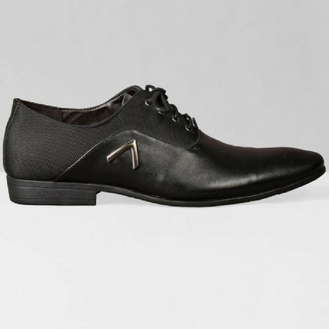 Chevron Oxford Shoes - Black
