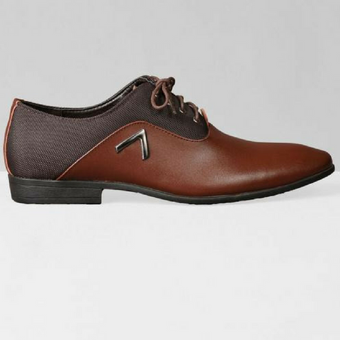 Chevron Oxford Shoes - Brown