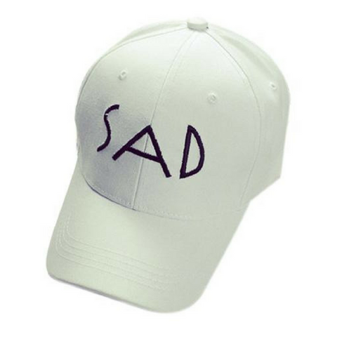 SAD Baseball Hats-White