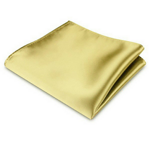 Olive Silk Satin Pocket Square