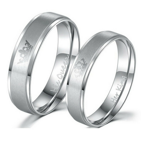 King and Queen Silver Couples Rings
