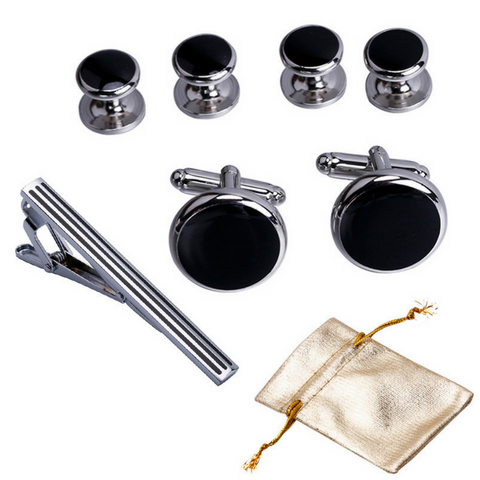 Mens Cufflinks and Studs Set
