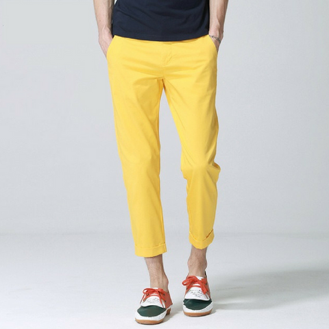 PREMIUM Men's Chino Pants in Canary Yellow