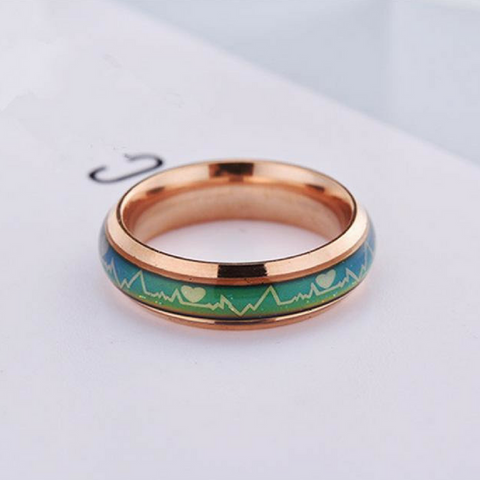 Temperature Emotion Couples Rings-Rose Gold